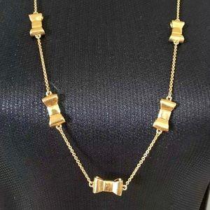 "Kate Spade ""Take a bow"" gold-tone necklace"